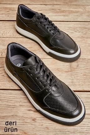 Bambi Hakiki Deri Siyah Erkek Sneaker L1759052003