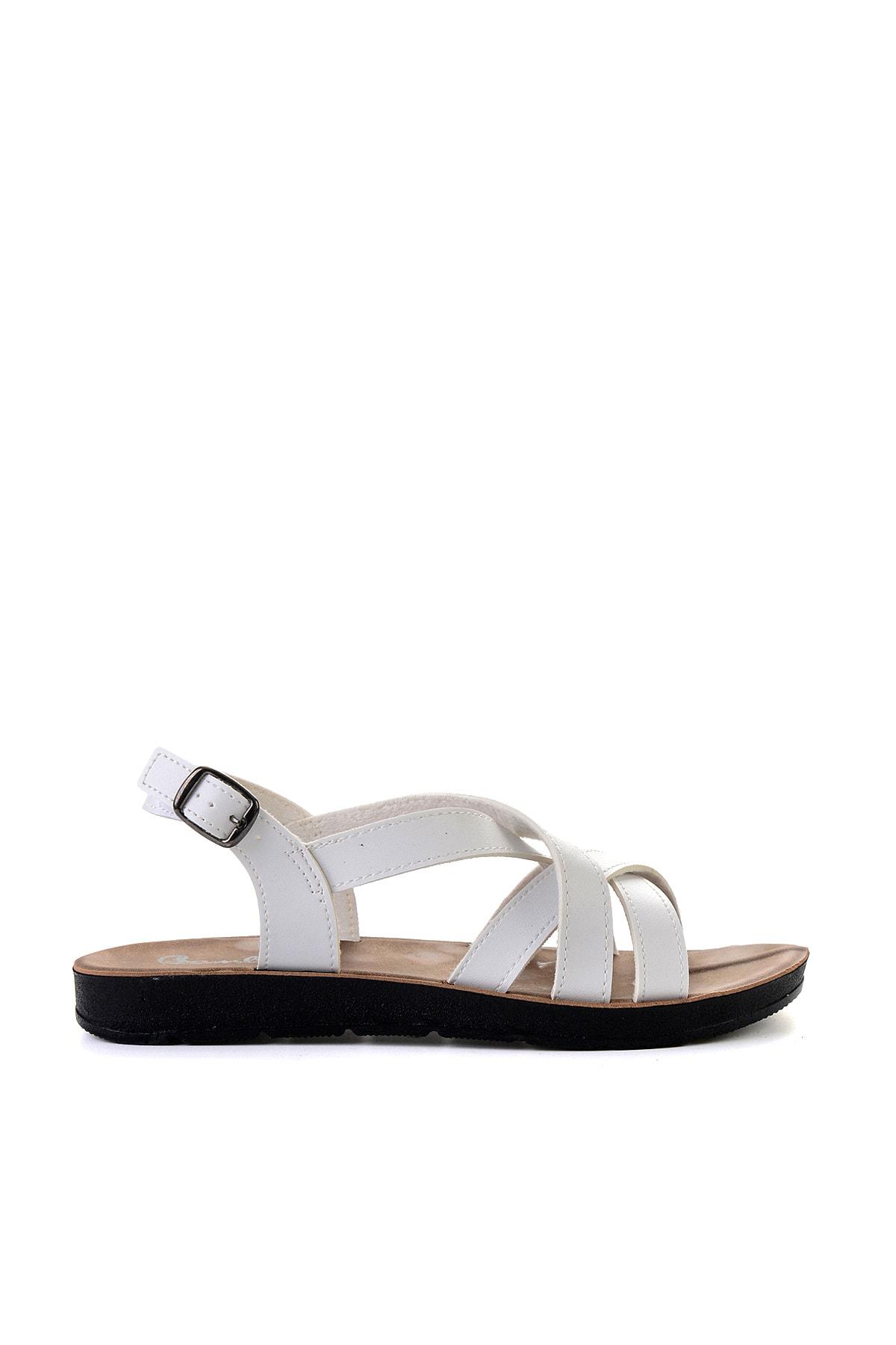 Bambi Beyaz Kadın Sandalet L0642111209 2