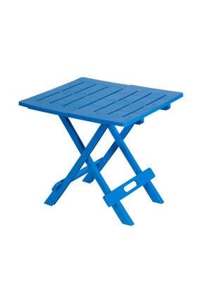 Saban Ev Bahçe Plastik Katlanabilir Piknik Masası Mavi