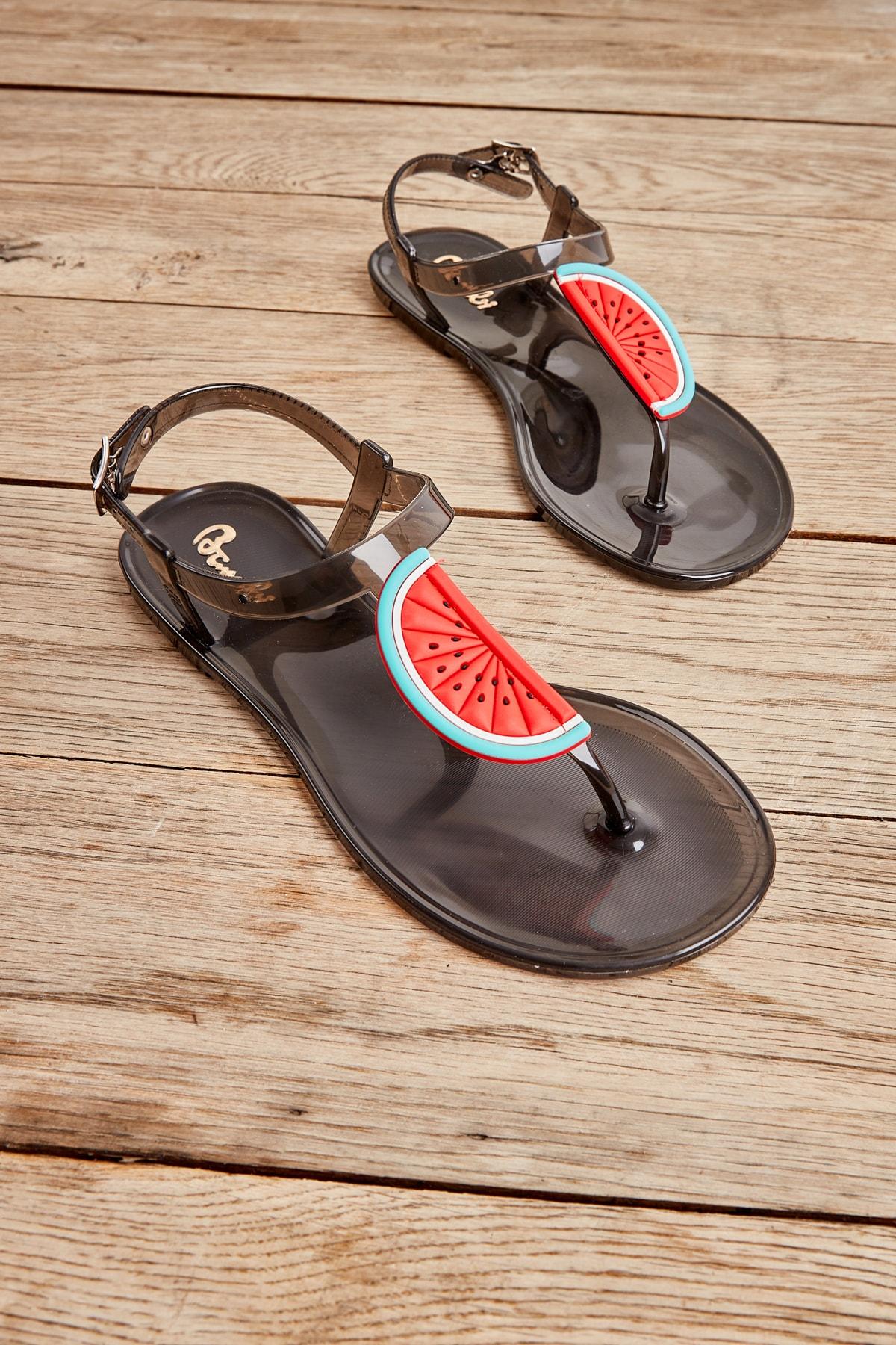 Bambi Siyah Kadın Sandalet L0500902199 1