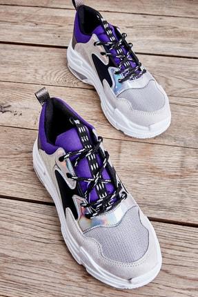 Bambi Lame Lacivert Kadın Sneaker L0601013909