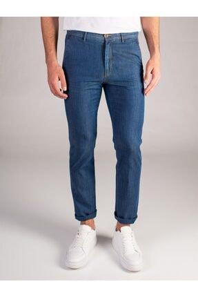 Dufy Lacivert Denim Pamuk Likra Karışımlı Erkek Kot Pantolon - Regular Fıt