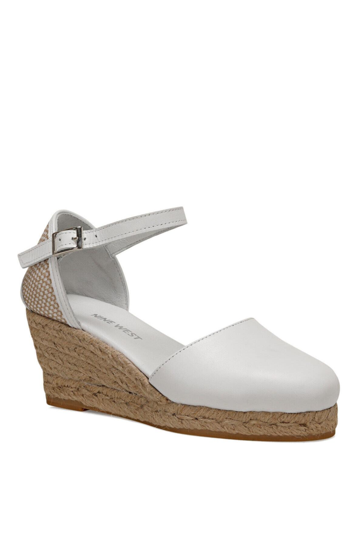 Nine West Frıda Beyaz Kadın Dolgu Topuk Sandalet 2