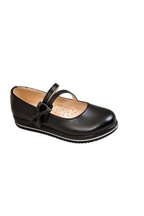 KAPTAN JUNIOR Kız Çocuk Ortopedik Ayakkabı Babet Pssk 651 Siyah