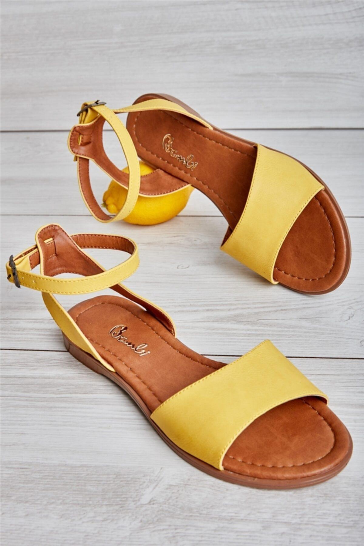 Bambi Sarı Kadın Sandalet L0671404309 1
