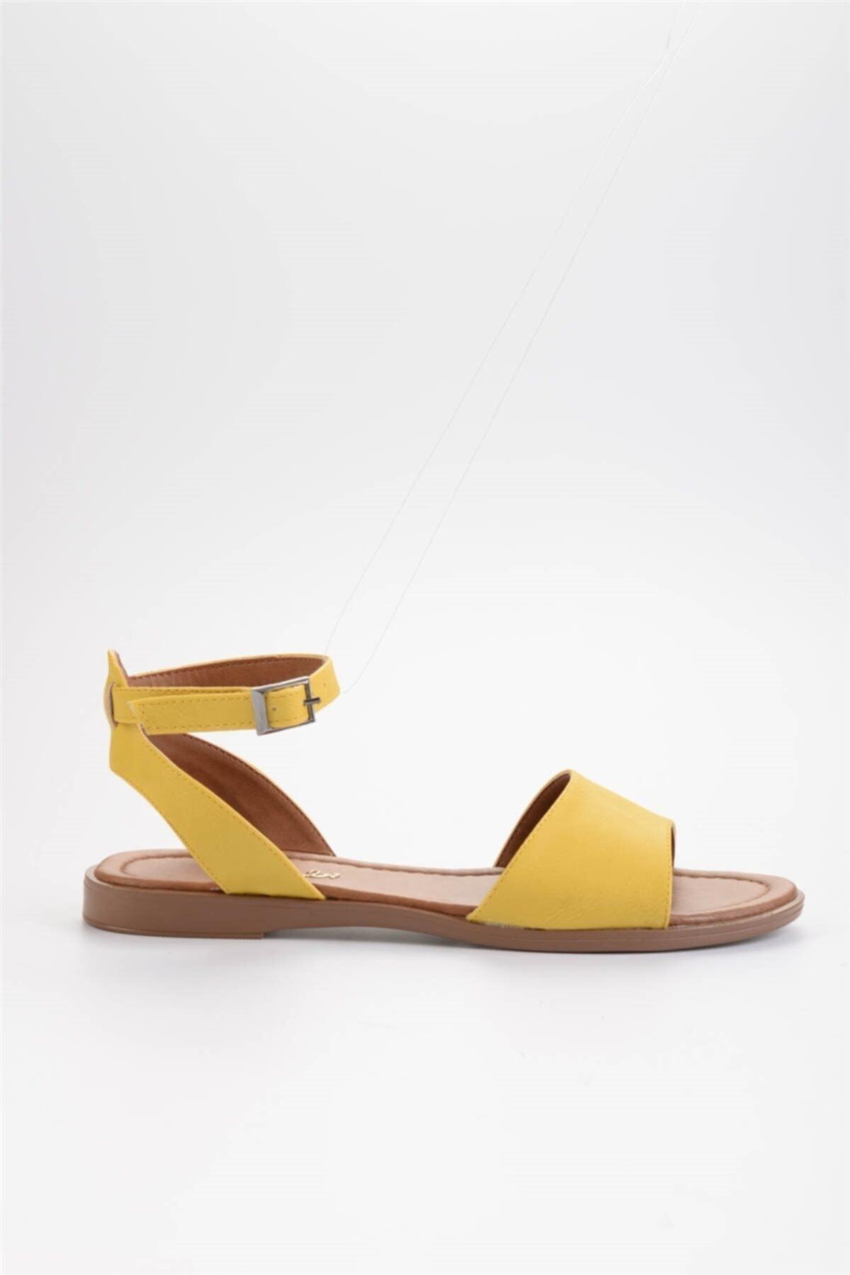 Bambi Sarı Kadın Sandalet L0671404309 2