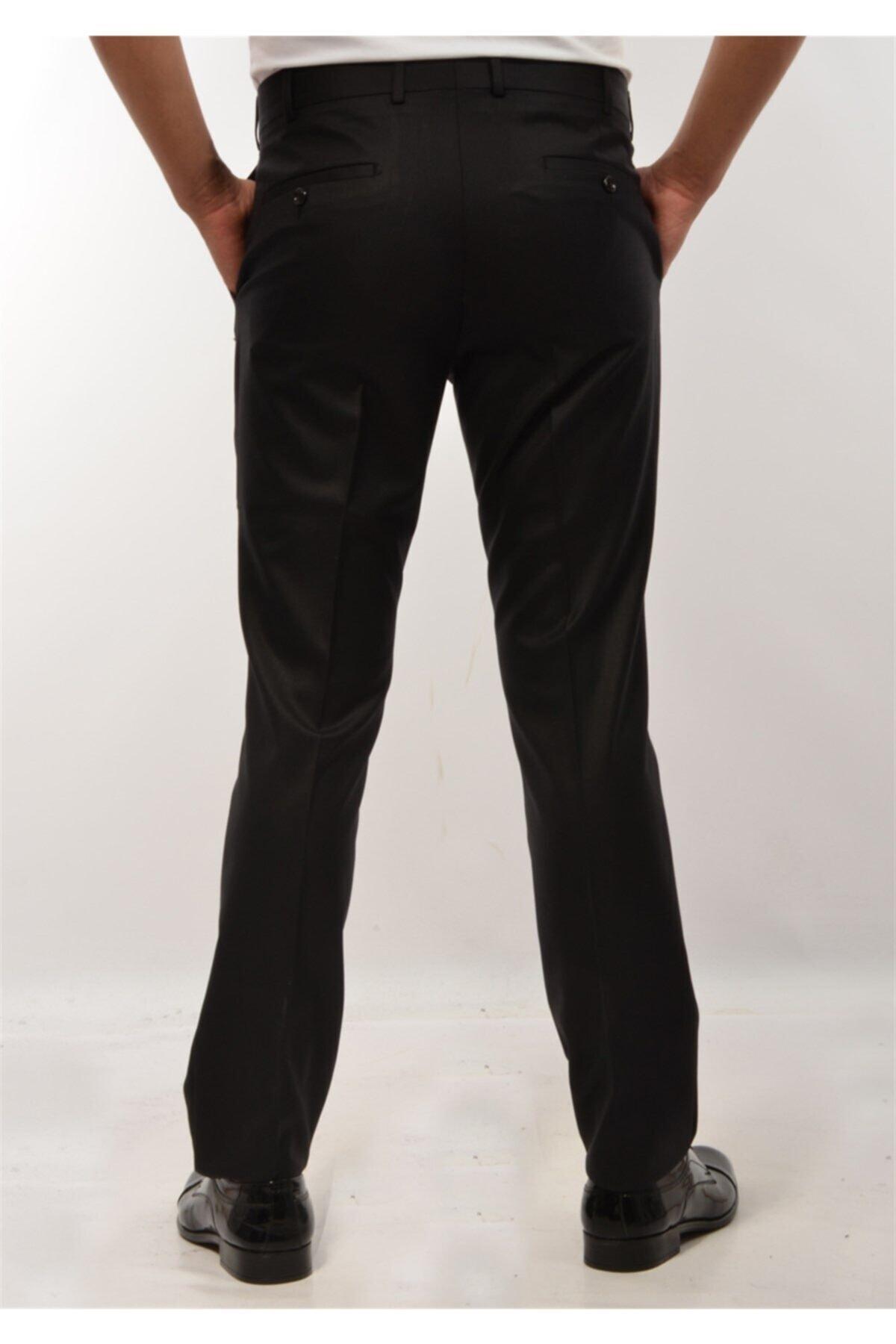 ModaPlaza Erkek Pantolon Siyah Kumaş 2