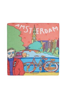 Deriderim Amsterdam Desenli Fular & Bandana