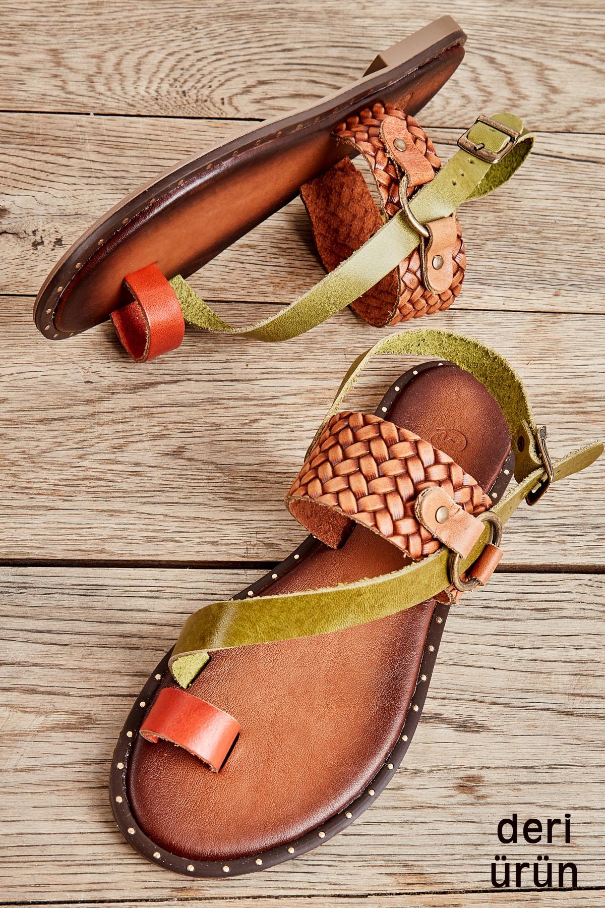 Bambi Kiremit/yeş/taba Ö. Kadın Sandalet L0685085003 1