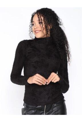 Twister Jeans Kadın Bt Peluş Boğazlı Bayan Triko 2200 Sıyah