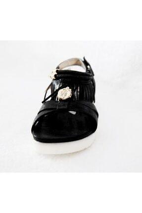 Vicco 928.z.689 Siyah Püsküllü Taşlı Sandalet
