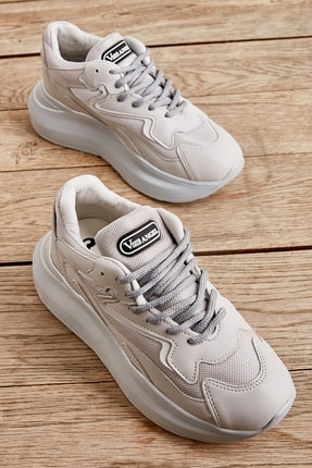 Bambi Gri Kadın Sneaker L0601020822