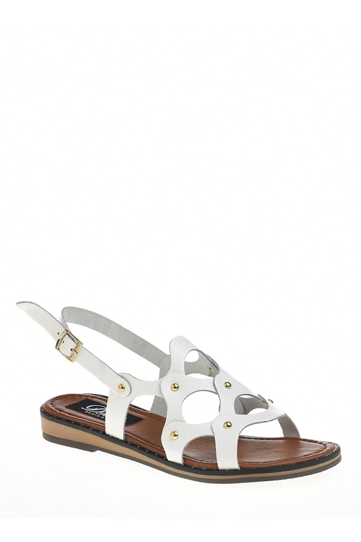 Derigo Beyaz Kadın Sandalet 521228 1