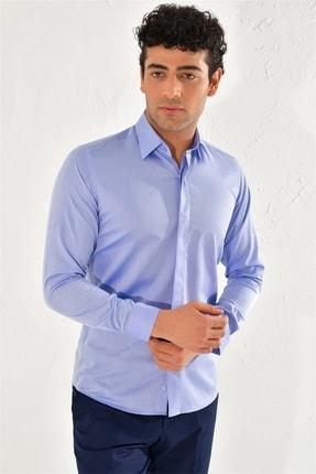 Efor Gk 569 Slim Fit Koyu Mavi Klasik Gömlek