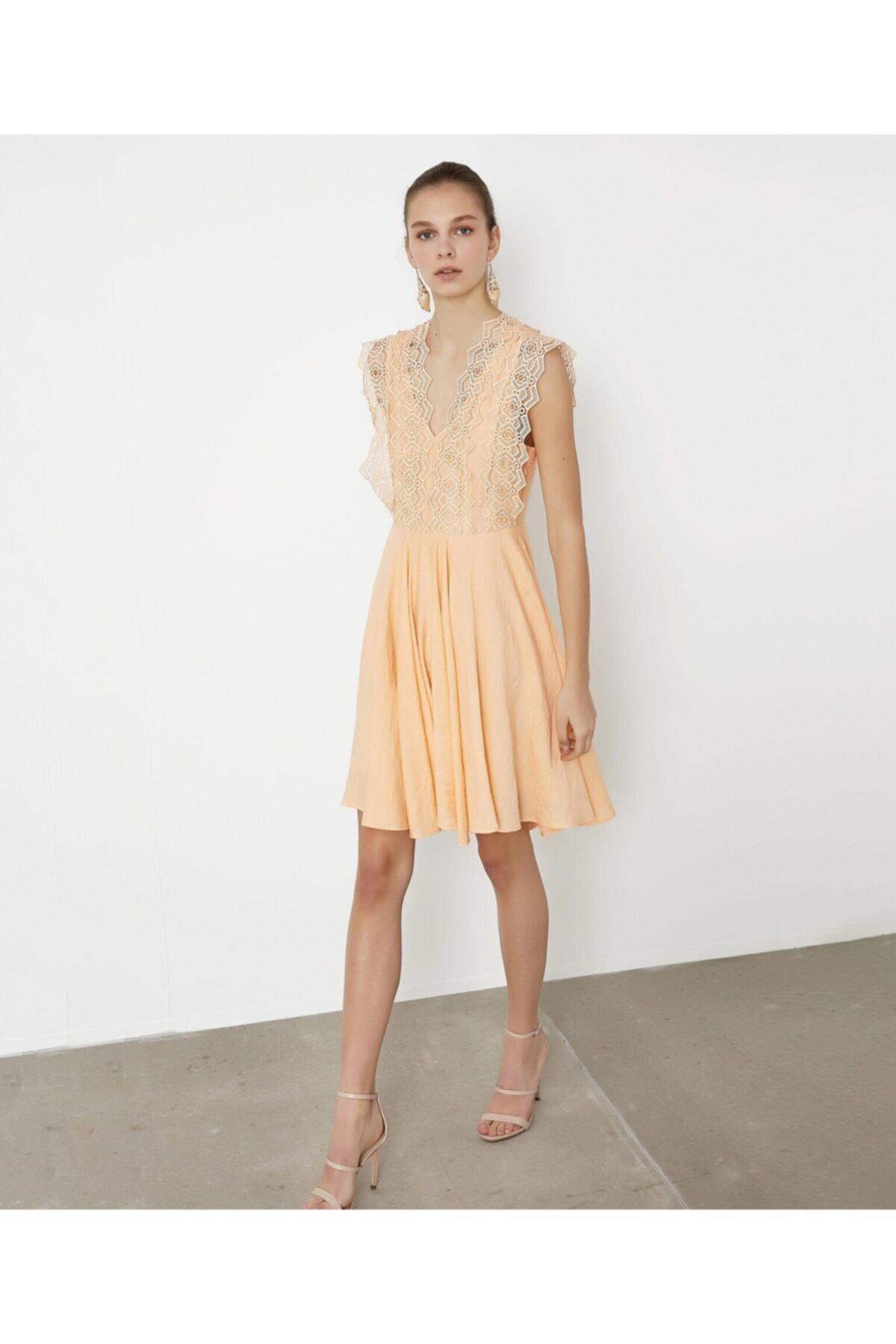 İpekyol Güpür Mixli Elbise 1