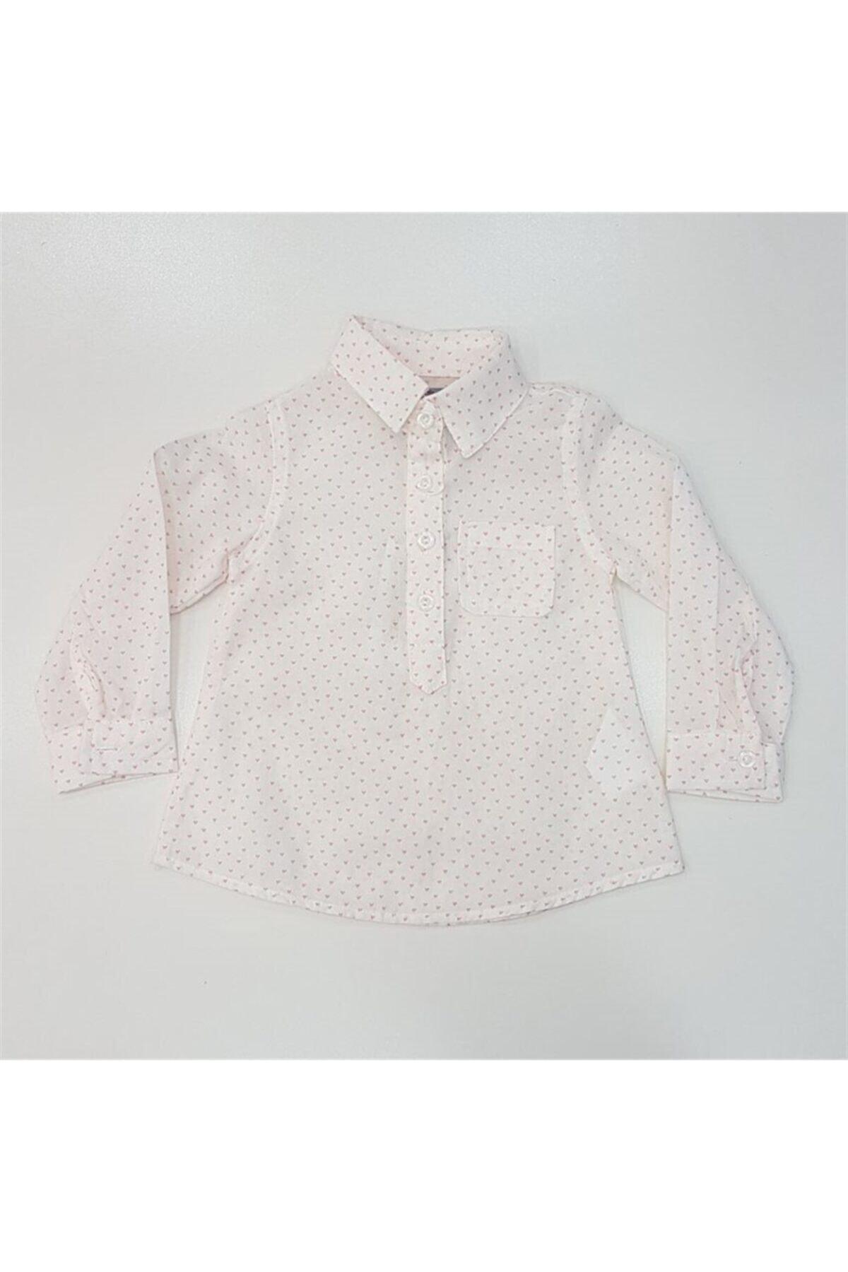 Timo Kids 271094 Kız Bebek Kalp Desenli U.kol Gömlek 1