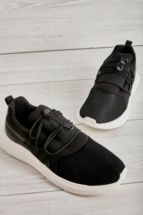 Bambi Siyah Beyaz Erkek Sneaker L1805192882