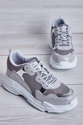 Bambi Gümüş Kadın Sneaker L0613542009