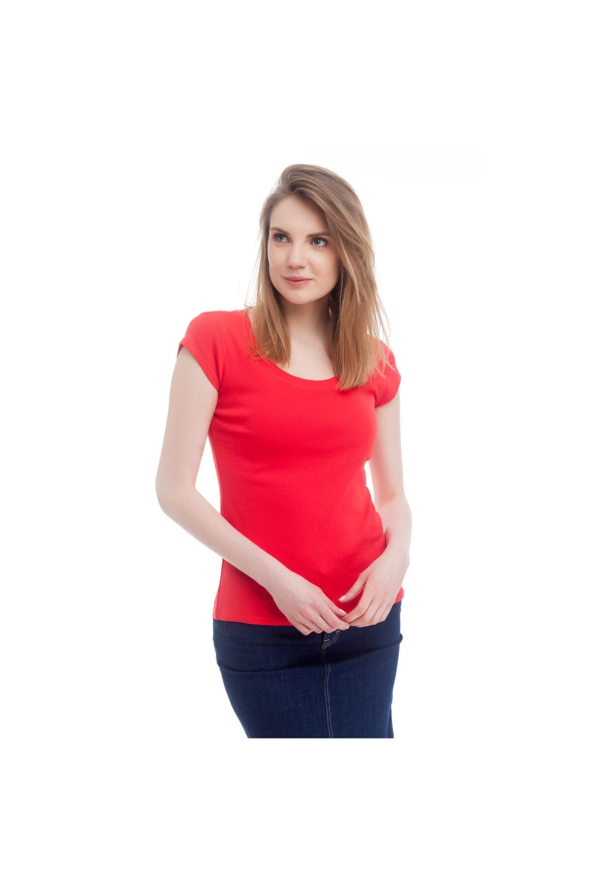 Mustang Kadın T-shirt Kırmızı 1