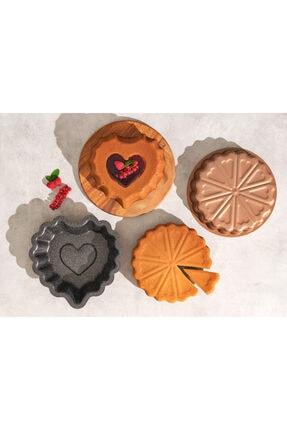 Emsan Sweetheart 26 cm Rose Gold Kek Kalıbı Seti 2'li