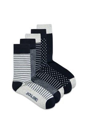 Jack & Jones Noos - Jaclıght Grey Sock 5 Pack Noos 12185708