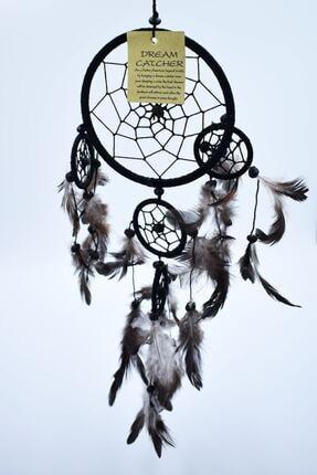 Hedicaret Rüya Kapanı, 12 Cm, Siyah, Düş Kapanı, Dream Catcher, Dekoratif