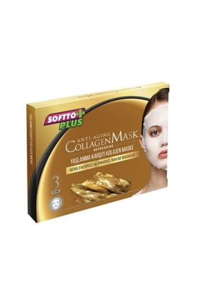 Softo Plus Yaşlanma Karşıtı Kolajen Maske 3 Adet