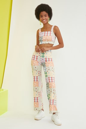 TRENDYOLMİLLA Çok Renkli Örme Pantolon TWOSS21PL0423