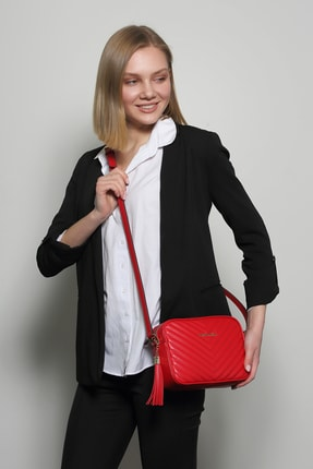 Marie Claire Kadın Kırmızı Postacı Çantası Küba Mc212103122