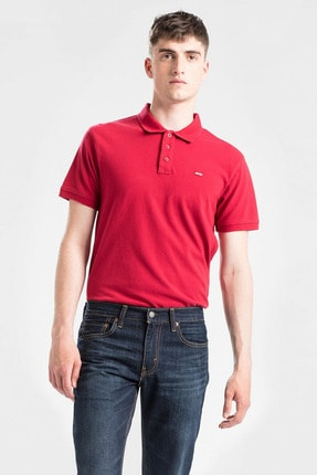 Levi's Erkek Kırmızı Housemark Good Polo Yaka T-shirt 24574-0038