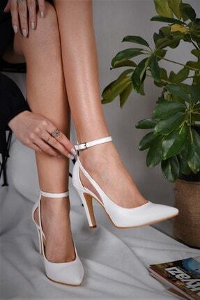 LİLLA AYAKKABI Kadın Stiletto Beyaz Sivri Ökçe