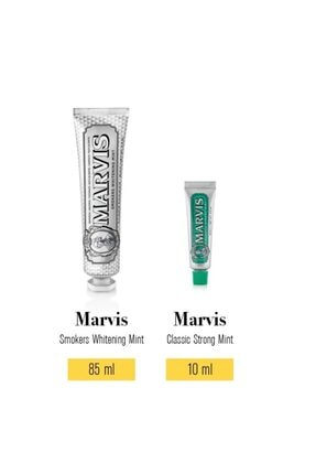 Marvis Smokers Whitening Mint Diş Macunu 85 ml Classic Strong Mint 10 ml