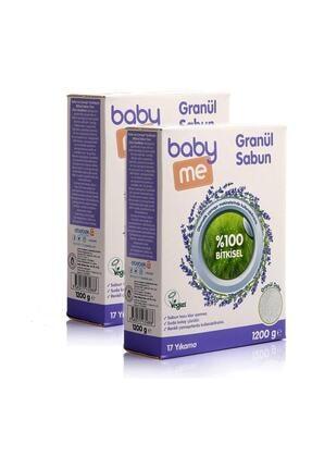 Baby&Me Bitkisel Granül Sabun Tozu 2li 1200 Gr Bae-20069