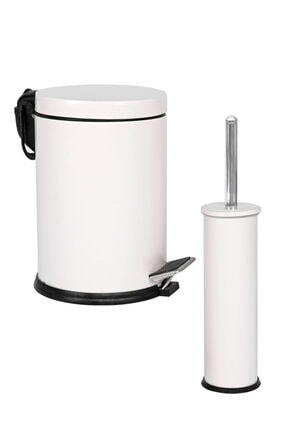 Foreca Eko 2 Li Çöp Kovası Banyo Seti Beyaz