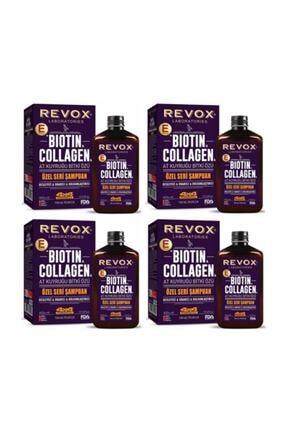 Revox Biotin Collagen At Kuyruğu Dolgunlaştırıcı Şampuan 400 Ml X 4