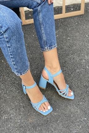İnan Ayakkabı Kadın Düğümlü Topuklu Sandalet