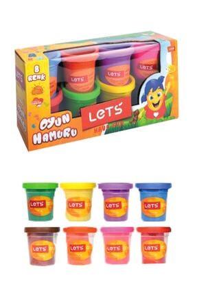 Lets Oyun Hamuru 8 Renk 600 gr L8358
