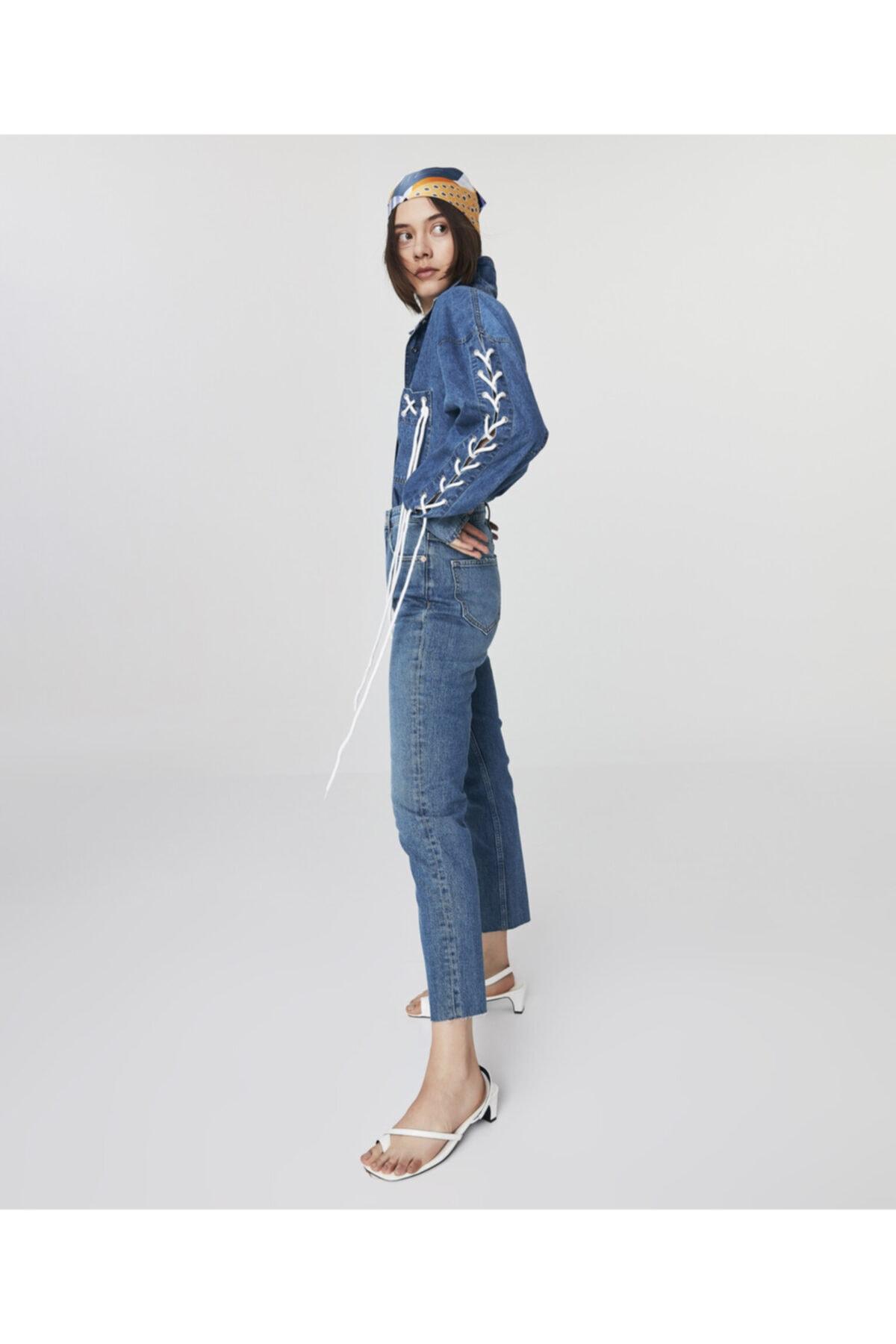 Twist Kadın Mavi High Rise Ankle Length Jean Pantolon TS1210018034 1