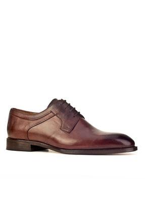 Cabani Oxford Kaymaz Esnek Kauçuk Tabanlı - Erkek Ayakkabı Kahve Antik Deri