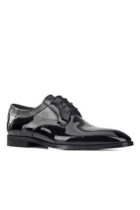 Cabani Özel Tasarım Davet Smokin Damatlık Bağcıklı Günlük Erkek Ayakkabı Siyah Rugan