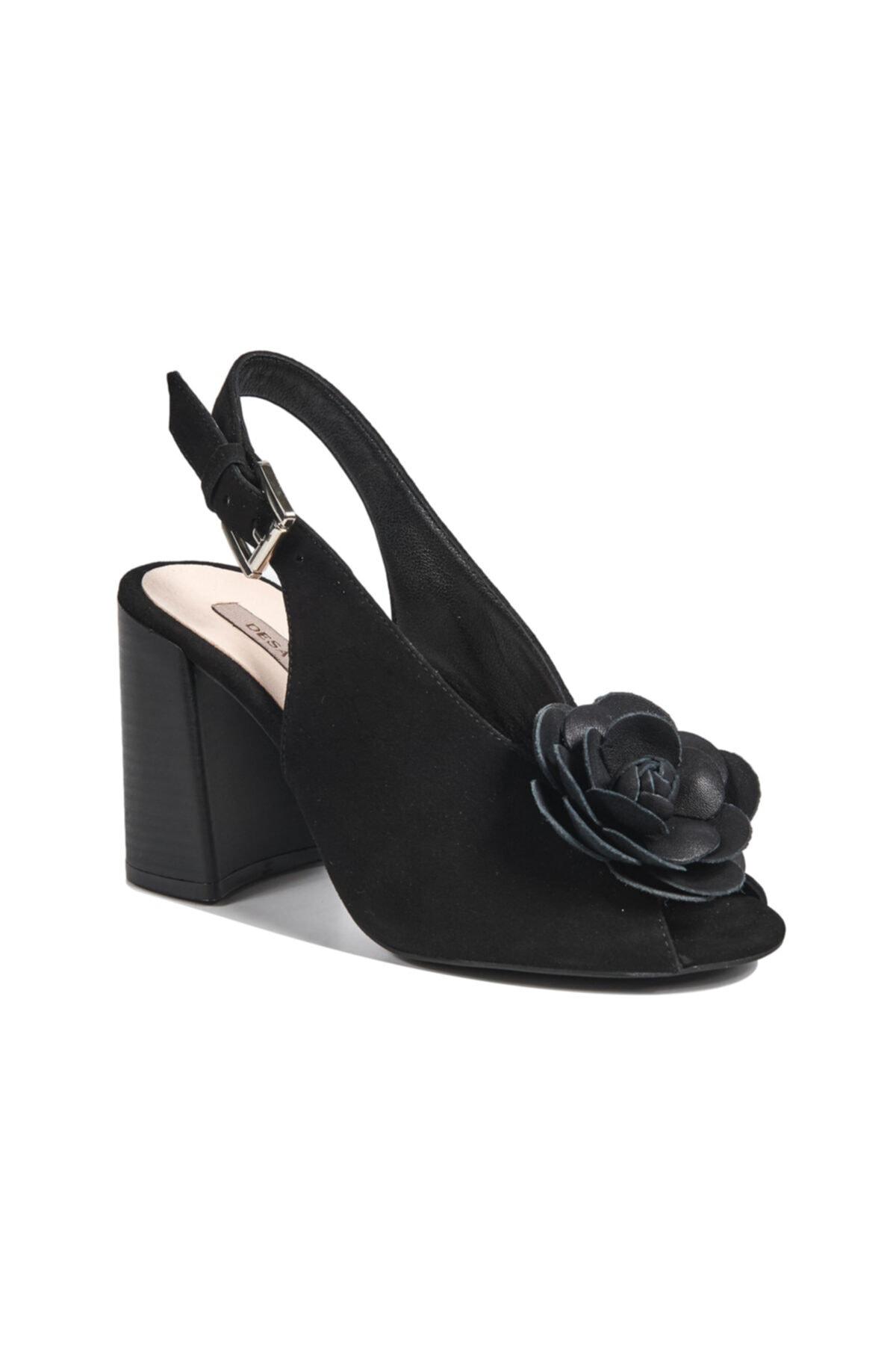 Desa Freya Kadın Süet Topuklu Sandalet 2