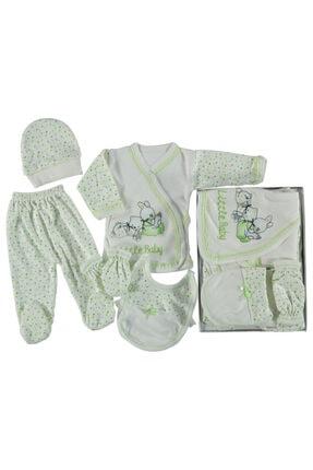 Bambino 5 Parça Yeşil Yenidoğan Bebek Takım