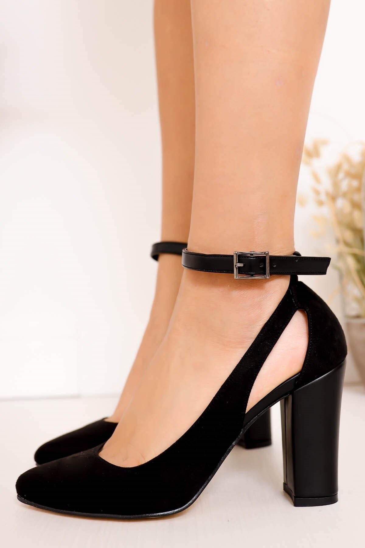Hayalimdeki Ayakkabı Lillian Topuklu Siyah Süet Ayakkabı 2