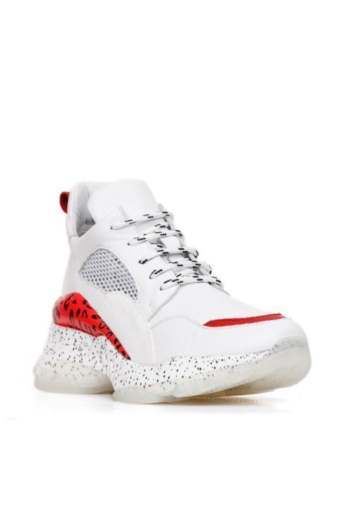 BUENO Shoes Hakiki Deri Noktalı Taban Ve File Detaylı Kadın Spor Ayakkabı 20wq11402 2
