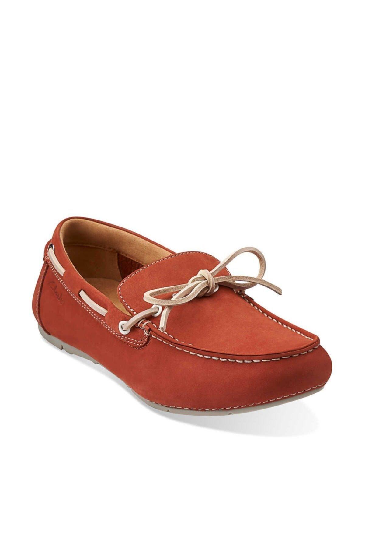 CLARKS Erkek Kırmızı Hakiki Deri Ayakkabı 1