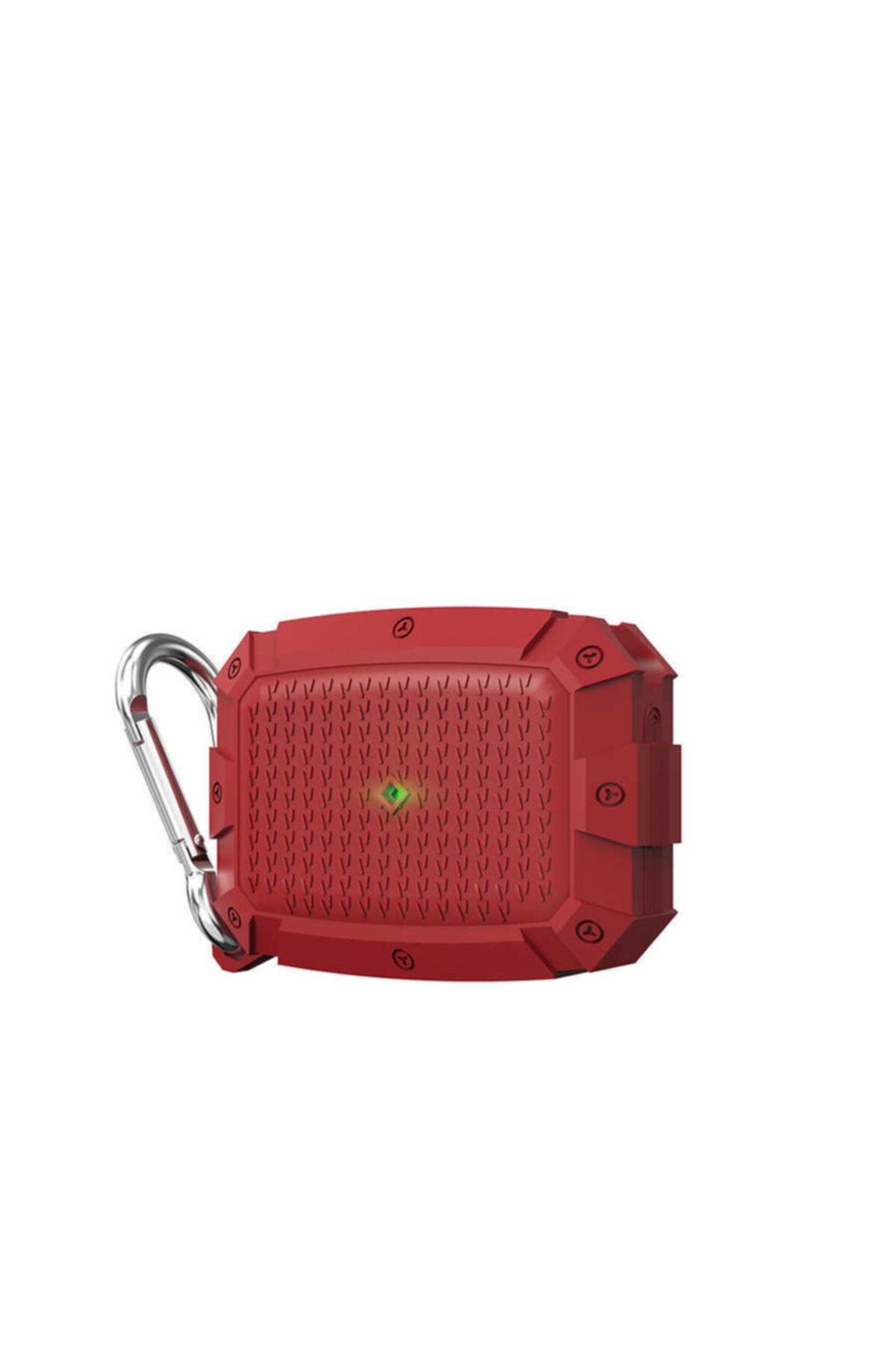 zore Airpods Pro Uyumlu Kılıf Darbe Emici Zırh Görünüm Köşe Korumalı Renkli Wireless Şarj Askılı Kancalı 1