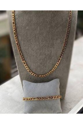 X-Lady Accessories Altın Kaplama Zincir Kolye Ve Bileklik