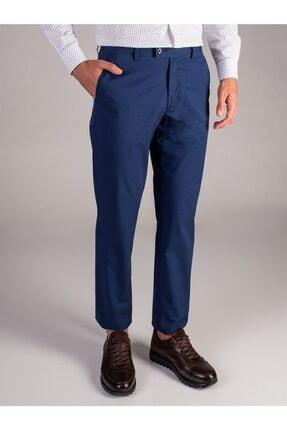 Dufy Lacivert Düz Kalın Iplik Erkek Pantolon - Regular Fıt