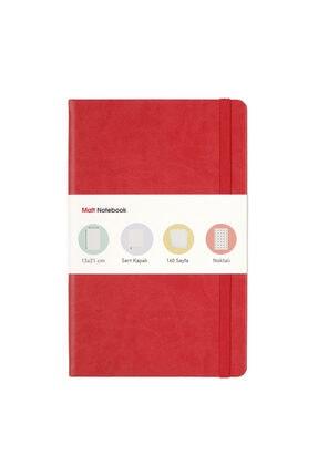 Matt Notebook 13x21 Lastikli Defter Noktalı Kırmızı