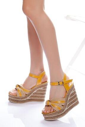 derithy -dolgu Topuklu Ayakkabı-sarı